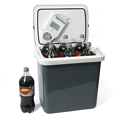 Dino KRAFTPAKET 131001 Kühlbox 12V 230V (WÄRMT & KÜHLT) HÖHE: 44cm GRÖSSE: 32-Liter (28L netto) Elektrische Kühlbox für Auto Boot Camping, A++ mit ECO-Modus 6