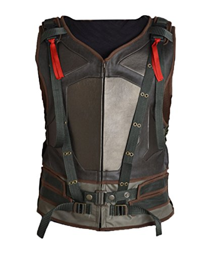 [MSHC Hardy Tactical Bane Military Vest Faux Leather V2 (LARGE) Tom's Green] (Easy Bane Costumes)