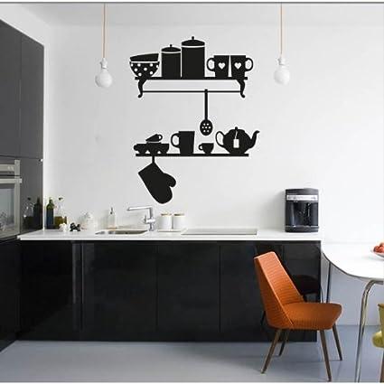 Amazon.com: Adesiviamo MENSOLE Cucina – Wall Stickers Vinyl Wall ...