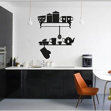 Adesiviamo Mensole Cucina - Wandtattoos Vinyl Wall Stickers Decals ...