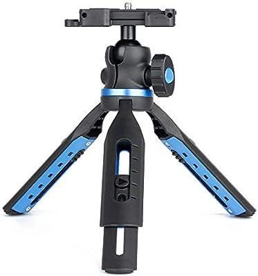 Yinglihua Trípodes Telescópica Mini Trípode SLR Cámara del Smartphone De Escritorio 2 En 1 Trípode De Montaña Teléfono Móvil Trípode para cámara (Color : Negro, tamaño : Un tamaño): Amazon.es: Hogar