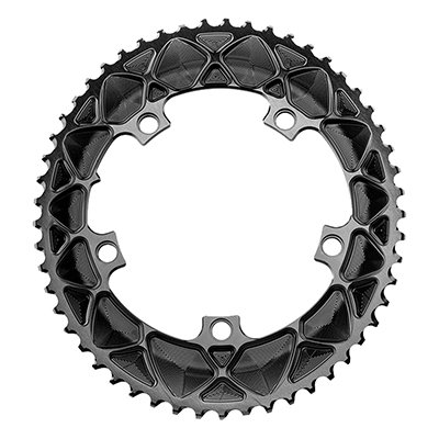 ABSOLUTE BLACK CHAINRING ABSOLUTEBLACK OVAL 130mm 53T 5B 2X BK by ABSOLUTE BLACK