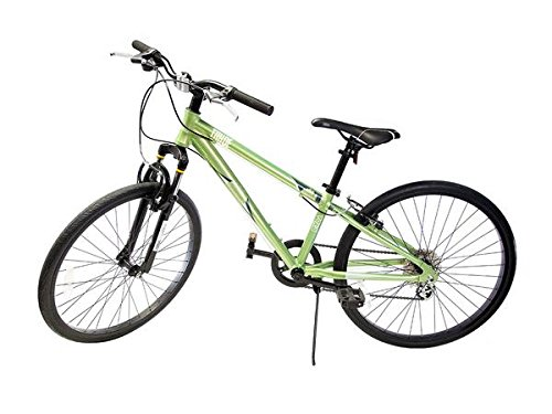 Ryda Bikes Tahoe - 24'' Green Youth Unisex Mountain Bike - 8 Speed All Purpose Bicycle for Kids and Teens with Flat Proof Tires