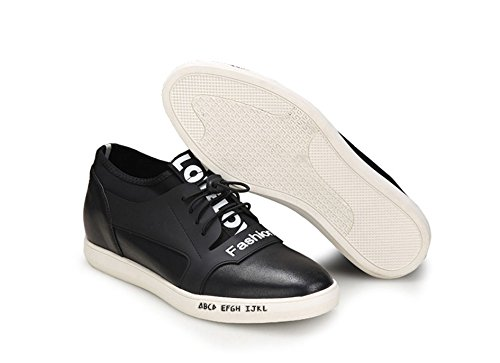Height Elevator Sneakers 2.36 Inches Genuine Leather Invisible Height  Increasing Casual Shoes For Men: Amazon.ca: Shoes & Handbags