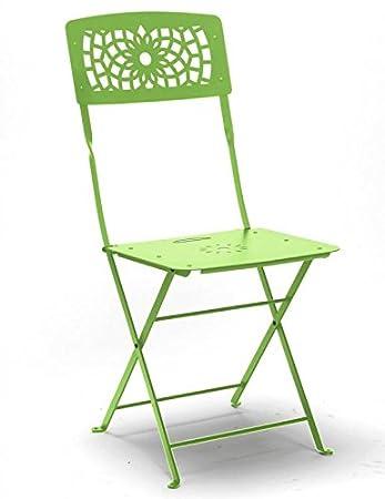 4 Stühle Klappbar Aus Eisen Grün Linde Ohne Armlehnen Stuhl Von