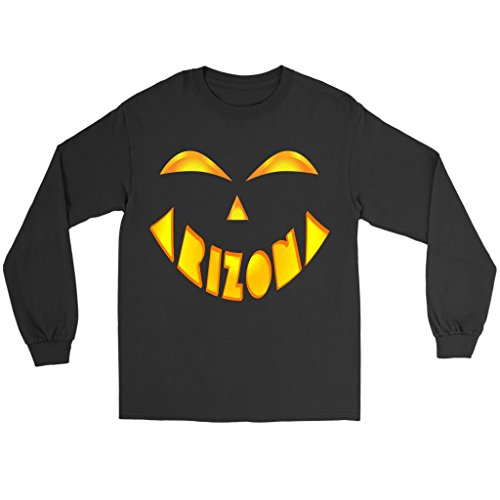 Arizona State Jack O' Lantern Pumpkin Face Halloween Costume Long Sleeve Tee Shirt, XL -