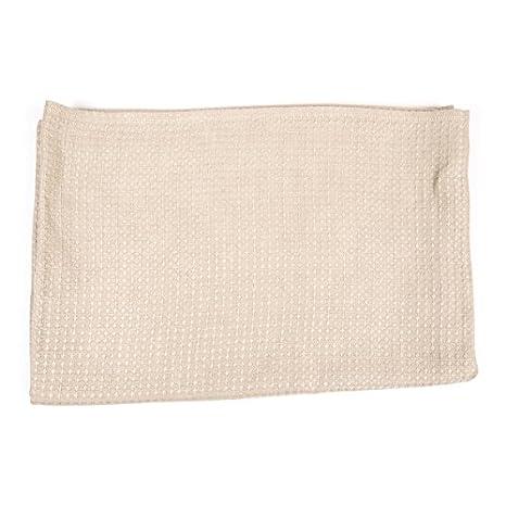 Linenme - Toalla de baño (lino grueso, 65 x 130 cm), color crema: Amazon.es: Hogar