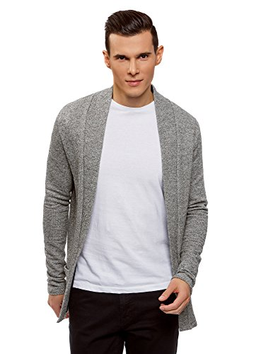 Fermeture Homme Ample Ultra Oodji 2910o Cardigan Coupe Sans Gris 6aY1Hqw