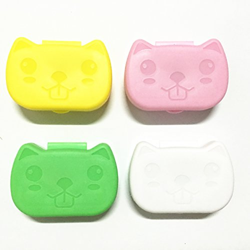 1PCS New Cartoon Cute Cat Travel Glasses Contact Lenses Box Contact lens Case for Eyes Care Kit Holder Container Gift 6.5X4.5X2CM OFFICE-559 (559 Glasses)