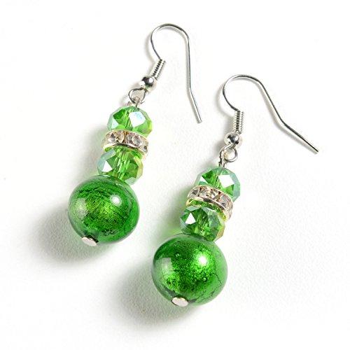 EMBRACE LA GRANDE VITA Murano Glass Earrings from Italy–Earring Set, Jewelry Made w/Murano Glass Beads by EMBRACE LA GRANDE VITA (Image #1)