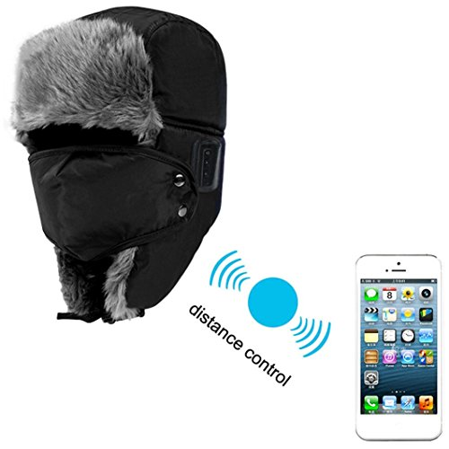 GBSELL Soft Unisex Winter Thicken Hat Wireless Bluetooth Smart Cap Headset Headphone Speaker Mic