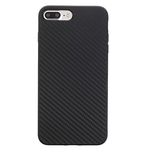 Carbon Fiber TPU Cell Phone Tasche Hüllen Schutzhülle - Case für iPhone 7 Plus - schwarz