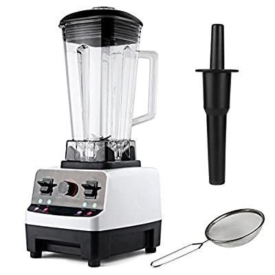 Blender WOQI Commercial Blender Food Processor Multi Speed Electric Professional Food Blender Mixer for Smoothies , Shakes, Ice, Vegetable, Fruit.(White)