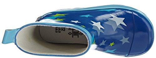 Kinder Blau Kurze blau Gummistiefel Playshoes 7 Sterne Naturkautschuk aus Y5fqnU