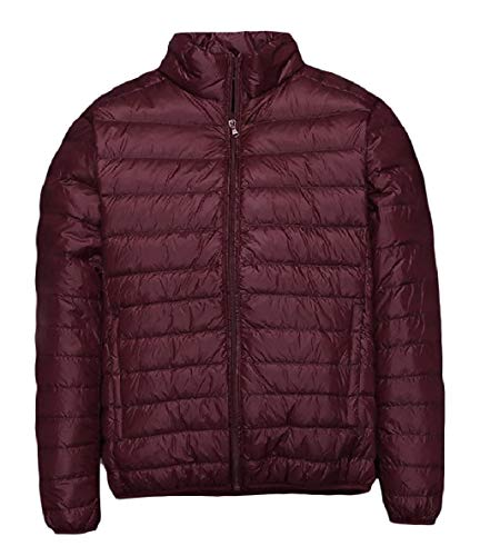 XINHEO Men Plus-Size Ultra Light Weight Solid Relaxed-Fit Down Jackets AS3