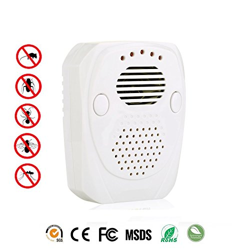 Ultrasonic Pest Conrol Repeller - LEDOO,Has a USB port, Pest Rejest Electronic Plug in,Best Repellent Get Rid Of - Rodents, Mice, Rats, Roaches, Spiders, Use Indoor & Outdoor, in Car from Battery