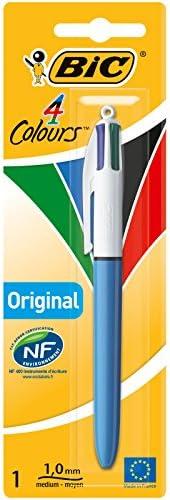 BIC 4 colores Original bolígrafos Retráctiles punta media (1,0 mm) - Blíster de 1 Unidad: Amazon.es: Oficina y papelería