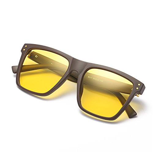 e8ebbcd0e3 60% de descuento Grandes Gafas de HD Visión para Conduccion Nocturna Hombre  Polarizadas Lente Amarilla