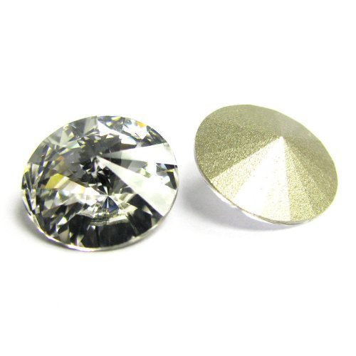 6 pcs Swarovski 1122 Crystal Round Rivoli Stone Silver Foiled Clear 12mm / Findings / Crystallized Element