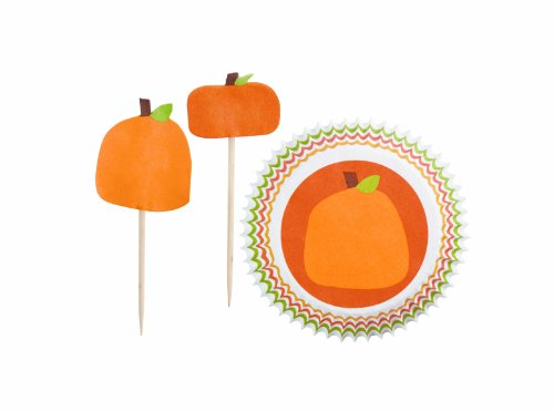 Wilton Halloween Pumpkin Patch Combo Pack Baking Cups, 24 Count ()
