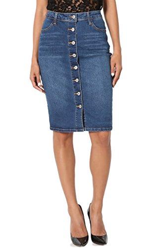 Button Down Cotton Skirt - 6