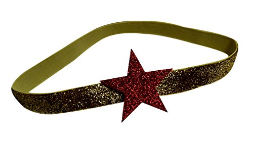 Price comparison product image Baby and Toddler Wonder Woman Inspired Glitter Star Elastic Costume Headband (0-12 Months)