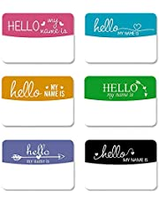 6Pack Newborn Name Sticker, Hello My Name Is Pregnancy, Gender Reveal and Birth Announcement Sticker, Baby Introduction Name Tag for Newborn Photo Shoot