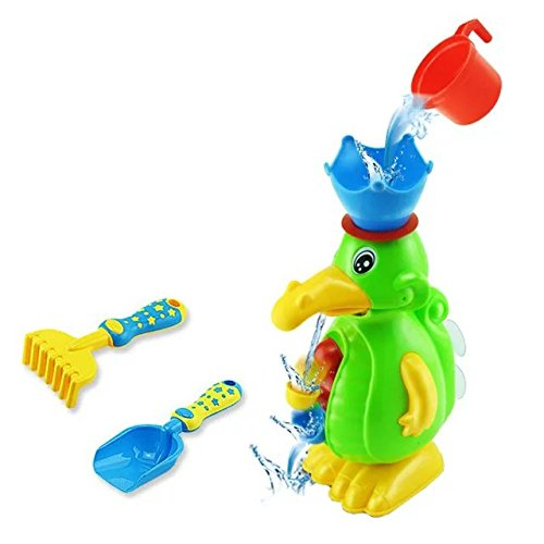 2016 Bath Toys Duck Baby Bath Play Taps Buttressed Spray Shower Electronic Spray Water Baby Bath Toys,Funnel Sand Educational Toys,Seaside Trolley Shovel Water Play (Laguna Blue Monster High)