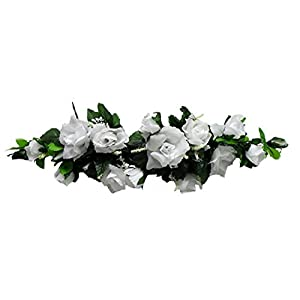 Rose Swags MANY COLORS Silk Wedding Flowers Chuppah Arch Gazebo Centerpiece 18