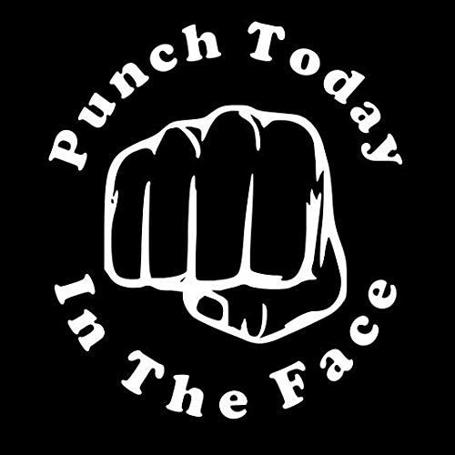 Punch Today In The Face Car Truck Decal 5x5.6