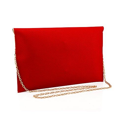 GEARONIC TM Fashion Designer Women Handbag Tote Bag PU Leather Shoulder Ladies Girls Purse Teens For Beach Travel Work Evening Day School Red by GEARONIC TM (Image #2)