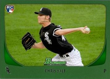 Baseball Chris Sale (2011 Bowman Green #220 Chris Sale Baseball Rookie Card - Only 450 made!)