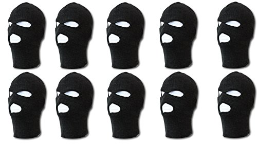 - HG Ski Mask 3 hole Black - 10 pack wholesale