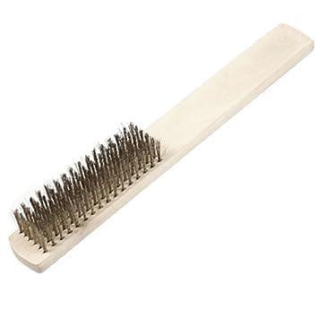 eDealMax madera industrial mango 6 filas de alambre de metal cepillo de dientes - - Amazon.com