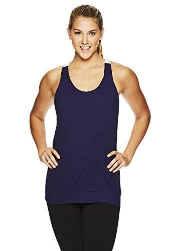 22735853a2 Gaiam Women s Heather Mix Racerback Yoga Tank Top w Built-in Medium Impact  Wireless