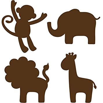 Amazon Com Wallpops Baby Jungle Silhouettes Decals Espresso