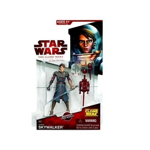 Star Wars 2009 Clone Wars Animated Action Figure CW-21 Anakin Skywalker (Space Suit)