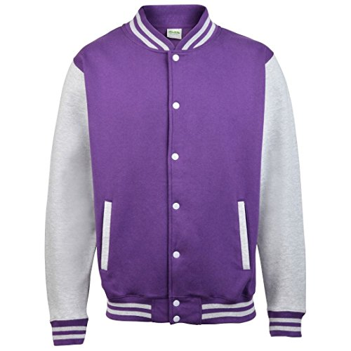 AWDis Hoods Varsity – Chaqueta Purple/ Heather Grey