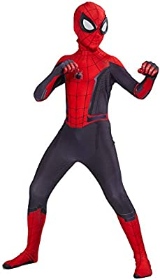 Spider Man Far From Home Peter Parker Jumpsuit Cos Costume  Bodysuit