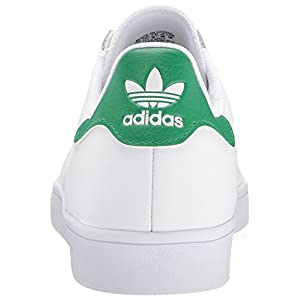 adidas Originals Men's Shoes | Stan Smith Vulc, White/White/Green, (7.5(B) Womens/6.5 (D) Mens)