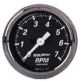 """Auto Meter 1497 Black 2-1/16"""" 7000 RPM Tachometer"""