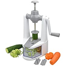 Surpahs Cyclone Vertical Self-Pressure 3 In 1 Vegetable Spiralizer