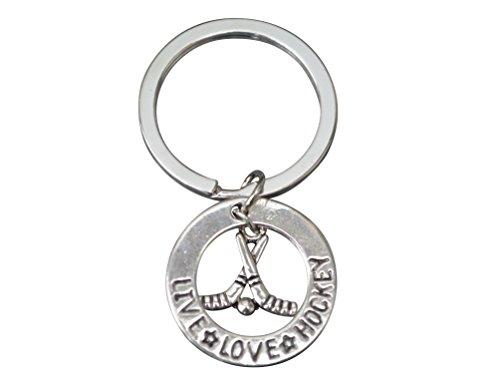 Big Save! Hockey Gift, Hockey Keychain, Hockey Jewelry, Hockey Charm Keychain Perfect Gift for Hocke...