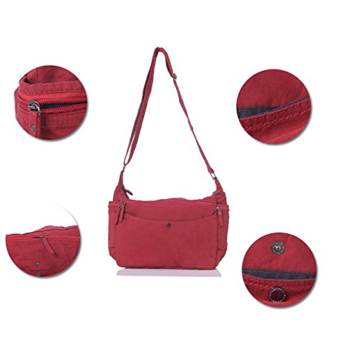 de Bolso Hombro la Cruzada Las Simple Elegante la de Nuevos Rojo de Mujeres Bolso DGF Cruzado Rojo Coreanas Algodón de Bolsos Tela Escuela del Color wZxv6fqO