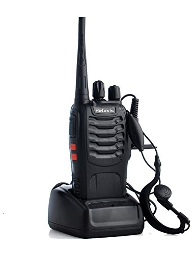 Retevis H 777 2 Way Radio Walkie Talkies UHF 400 470MHz 16CH CTCSS/DCS Flashlight Walkie Talkies with Earpiece(5 Pack)