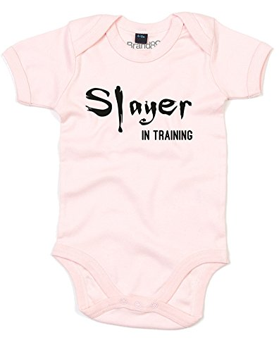 Slayer in Training, Baby Grow - Powder Pink/Black 3-6 Months ()