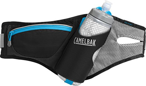 (CamelBak Delaney Hydration Waist Pack, Black/Atomic Blue, One Size)