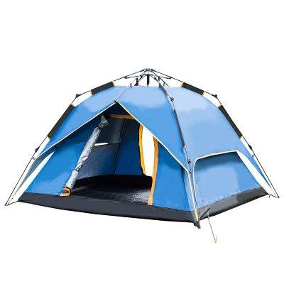 追う想起きらめき3-4人々テントアウトドアスクエアトップ高さキャンプ自動、防水と防雨、サイズ215 * 215 * 145センチメートル