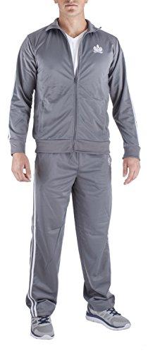 Vertical Sport Mens 2 Piece Jacket /& Pants Slim Fit Jogging Track Suit