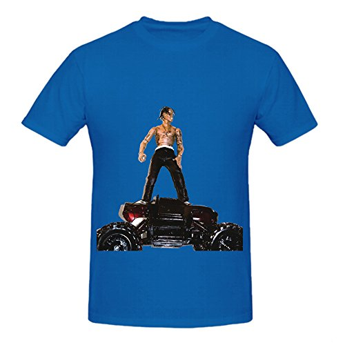 Travi Scott Rodeo Greatest Hits Men Round Neck Diy Tee Blue (Life Is Good Yoga Womens Tshirts compare prices)